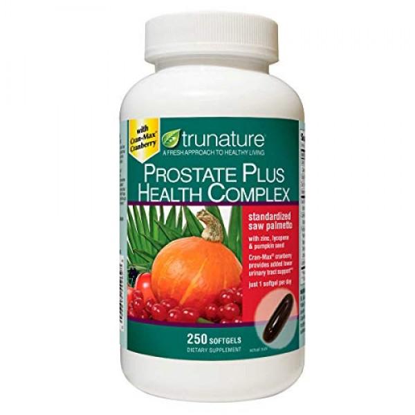 TruNature Prostate Plus Health Complex - Saw Palmetto with Zinc, ...