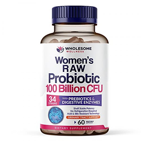 Dr. Formulated Raw Probiotics for Women 100 Billion CFU with Preb...