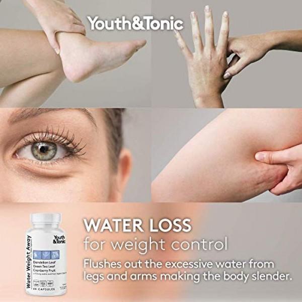 3pk Water Weight & Waste Loss & Belly Bloat to Reduce Fast Waist ...