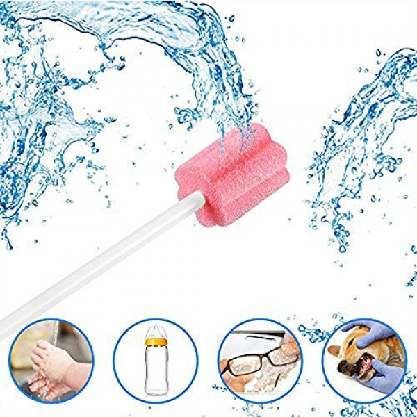 100PCS Disposable Mouth Swabs Sponge - Unflavored & Sterile Oral ...