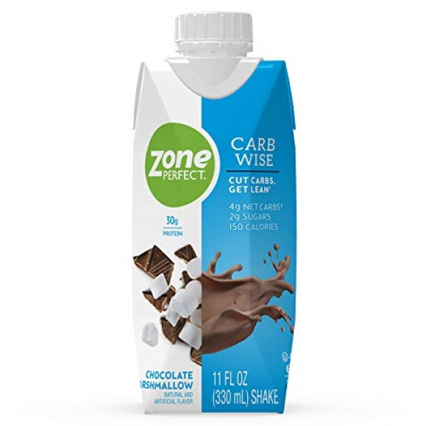 ZonePerfect Carb Wise High-Protein Shakes, Chocolate Marshmallow ...